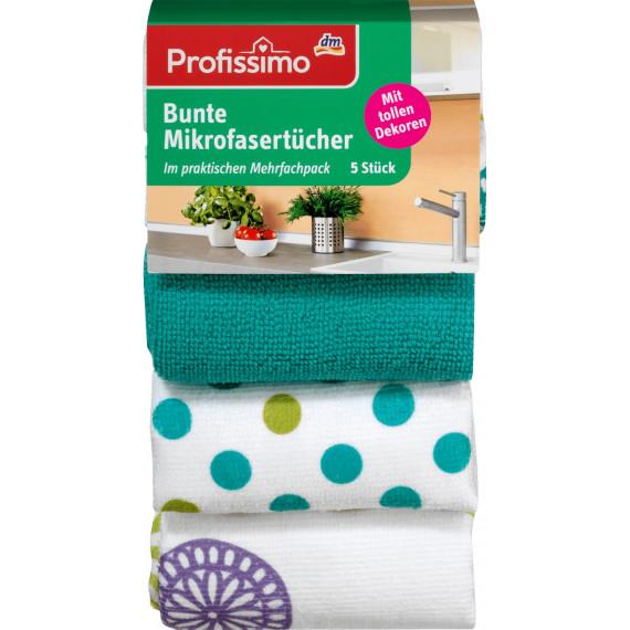 Полотна из микроволокна красочные с мотивом Profissimo, 5 шт (Германия) -