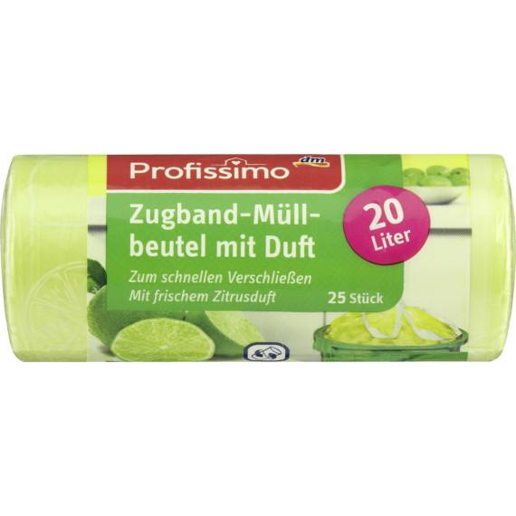 Пакети для сміття з запахом та затяжкою на 20 л. Profissimo, 25 шт. (Німеччина) -