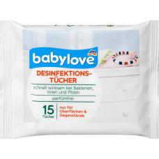 Дезинфицирующие салфетки babylove, 15 шт (Германия)