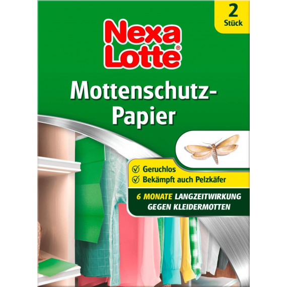 Защита от моли для одежды и тканей лента Nexa Lotte, 2 шт. (Германия) -