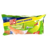 Влажные салфетки для уборки дома Яблоко W5, 80 шт