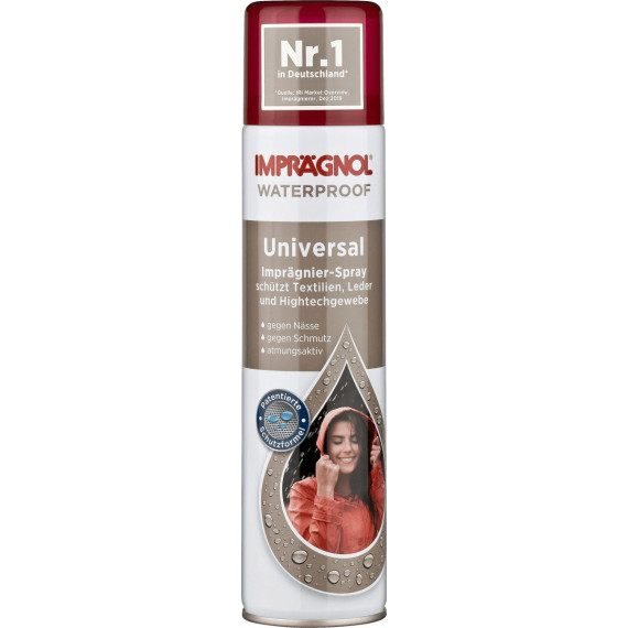 Спрей для пропитки универсальный для текстиля, кожи и высокотехнологичных тканей Imprägnol, 400 мл (Германия) -