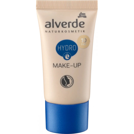 Увлажняющий макияж 10 Fair alverde, 30 мл (Германия) -