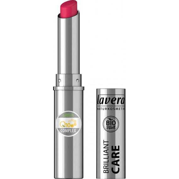 Помада Красивые губы BRILLIANT CARE Q10-Красная вишня 07 Lavera, 1,7 г (Германия) -