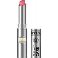Помада Красивые губы BRILLIANT CARE Q10-Клубничный розовый 02 Lavera, 1,7 г (Германия)