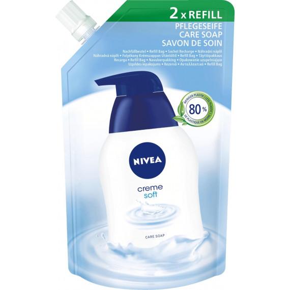 Жидкое мыло с мягким кремом запаска Nivea, 500 ml (Германия) -