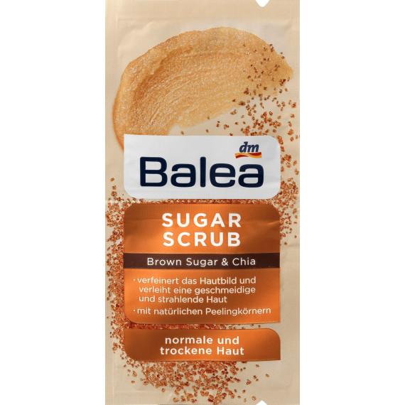 Маска для обличчя Цукровий скраб Коричневий цукор та Чіа Balea, 16 ml (Німеччина) -