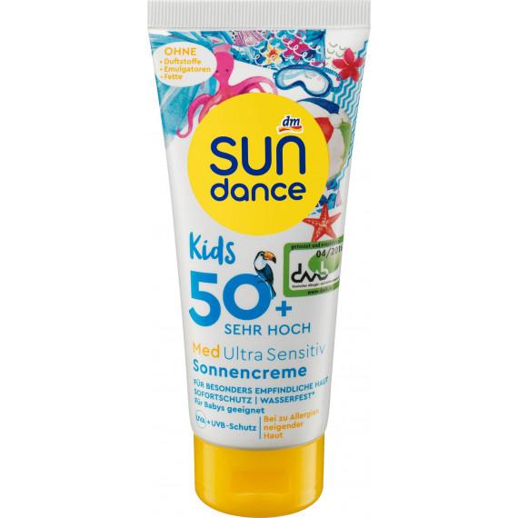 Детский солнцезащитный крем MED Ultra Sensitive SPF 50+ SUNDANCE, 100 мл (Германия) -