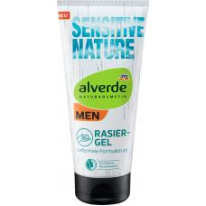 Гель для бритья Sensitive Nature alverde MEN, 200 ml (Германия)