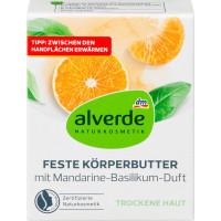 Твердое масло для тела Мандарин, базилик alverde, 40 g (Германия)