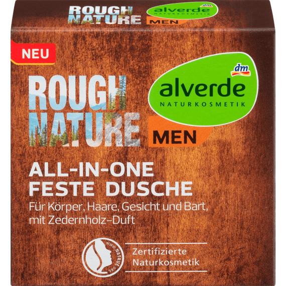 Твердый гель для душа Грубая Природа 4in1 alverde MEN, 60 g (Германия) -