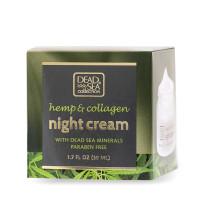 Ночной крем с экстрактом конопли, коллагеном и минералами Мертвого моря, 50 ml