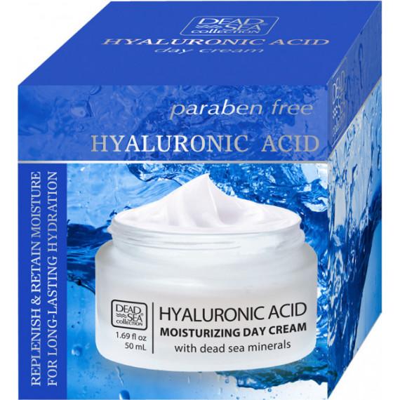 Увлажняющий дневной крем с гиалуроновой кислотой и минералами Мертвого моря, 50 ml -
