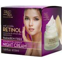 Ночной крем против морщин с ретинолом и минералами Мертвого моря, 50 ml
