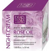 Ночной крем против морщин с маслом розы и минералами Мертвого моря, 50 ml