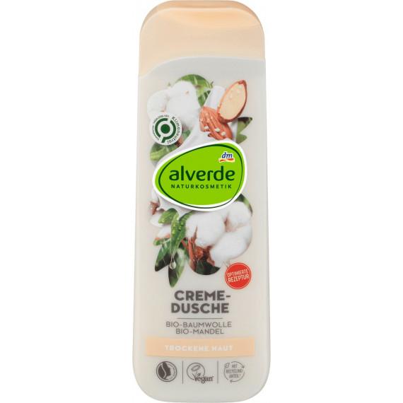 Гель для душу Органічна бавовна Органічний Мигдаль alverde, 250 ml (Німеччина) -