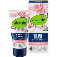 Ночной крем Дикая роза alverde, 50 ml (Германия)