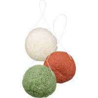 Губка для очищення обличчя зелений чай / червоні водорості / колаген Аморфофаллус ebelin, 1 St (Німеччина)