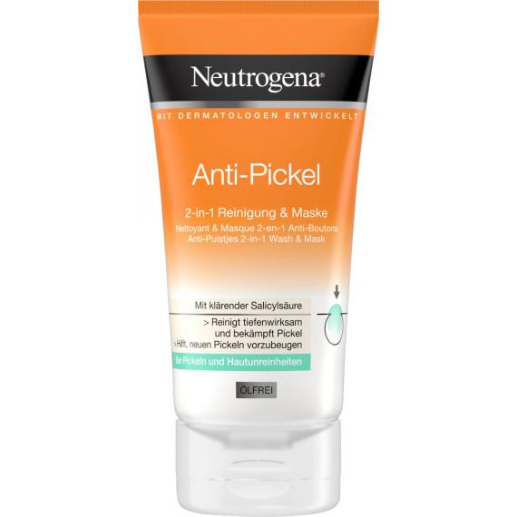 Очищающая маска против прыщей 2в1 Neutrogena, 150 ml (Германия) -