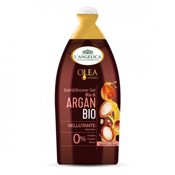 Гель для душа бархатное органическое аргановое масло L'angelica, 500 мл (Германия) -