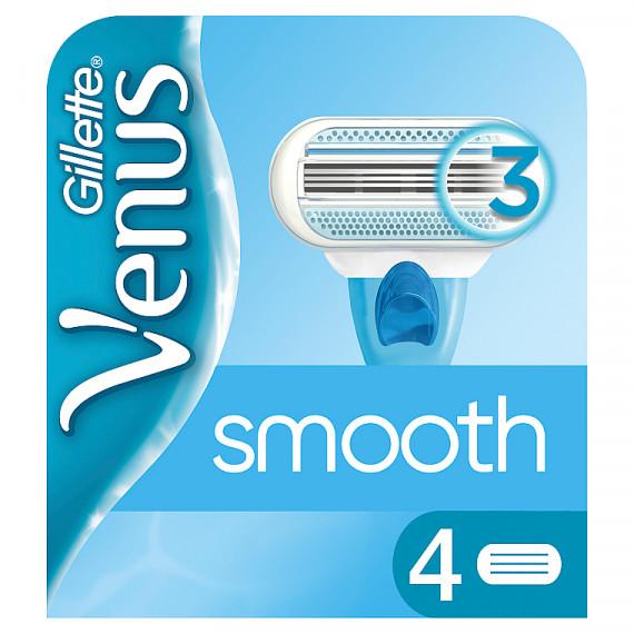 Плавные заменимые лезвия Gillette Venus, 4 шт (Германия) -