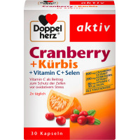 Клюква + тыква + витамин С + капсулы селена Doppelherz 30 штук, 27,7 г (Германия)
