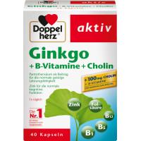 Гинкго + витамины группы В + холин капсулы Doppelherz 40 штук, 22,2 г (Германия)