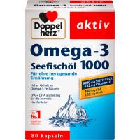 Омега-3 морской рыбий жир 1000 Doppelherz капсулы 80 штук, 107,8 г (Германия)