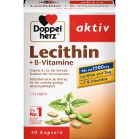 Лецитин + капсулы витаминов группы В Doppelherz 40 штук, 41,6 г (Германия)