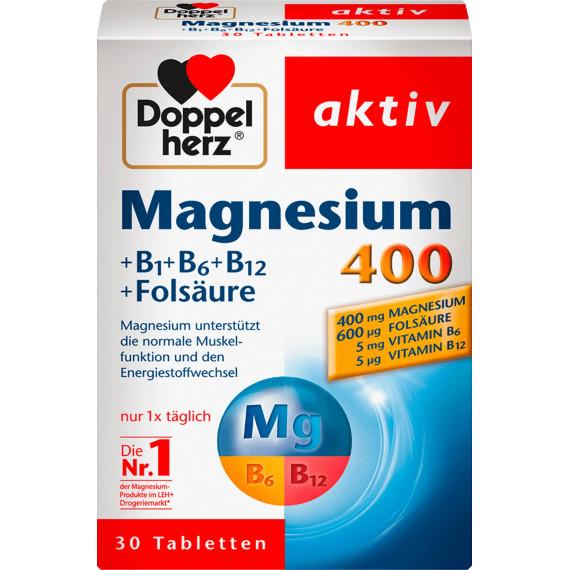 Таблетки магния 400 мг Doppelherz 30 шт., 38,1 г. (Германия) -