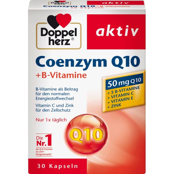 Коэнзим Q 10 + витамины группы В капсулы 30 штук Doppelherz, 12,5 г (Германия) -