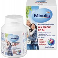 Биологически активные добавки A-Z Depot от 50 Mivolis, 100 шт (Германия)