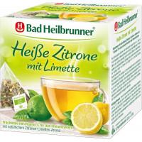 Фруктовий чай, гарячий лимон з лаймом Bad Heilbrunner (15 х 2,5 г), 37,5 г. (Німеччина)