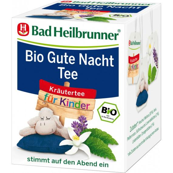 Травяной чай, чай для спокойной ночи для детей Bad Heilbrunner (8х1,75г), 14 г (Германия) -