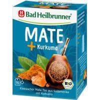 Травяной чай, мате-чай с куркумой Bad Heilbrunner (15 х 2 г), 30 г (Германия)