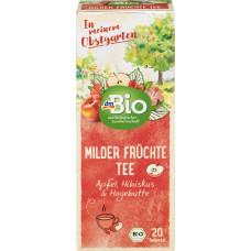 Фруктовый чай Мягкие фрукты dmBio (20 х 2,5 г) 50 г (Германия)