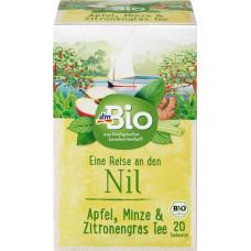 Фруктово-травяной чай Яблоко, мята и лимонник dmBio (20 х 2 г), 20 шт (Германия)