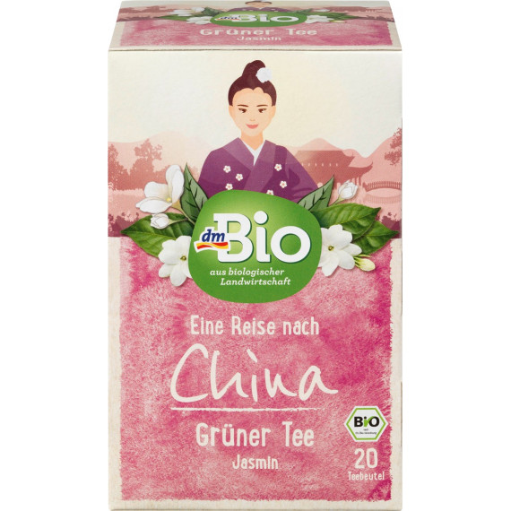 Зеленый чай жасмин dmBio, (20 х 1,5 г), 30 г (Германия) -