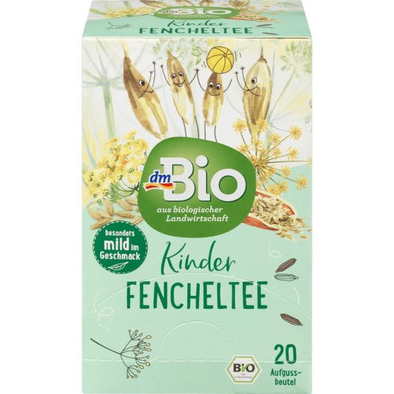 Дитячий чай з фенхелю dmBio (20 х 1,5 г), 30 г (Німеччина) -