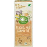 Травяной чай, укроп, семена аниса и тмина Naturland dmBio (20 х 2 г) 40 г (Германия)