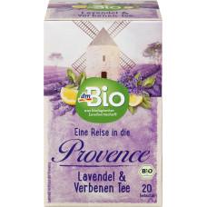 Травяной чай, лаванда и вербена dmBio (20 х 2 г), 40 г (Германия)
