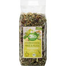 Смесь травяного чая, рыхлая, лимонная вербена, мята и мелисса dmBio, 75 г (Германия)