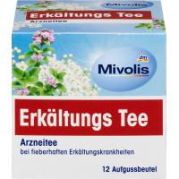 Лікарський чай, чай при температурі Mivolis(12 х 2 г), 24 г. (Німеччина)