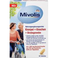 Хрящи + кости + соединительная ткань, капсулы Mivolis 40 штук, 66 г (Германия)