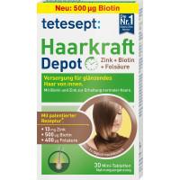 Сила волос цинк + биотин + таблетки фолиевой кислоты tetesept 30 штук, 7,5 г (Германия)