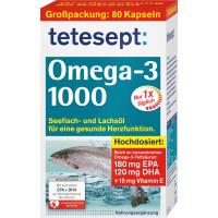 Омега-3 1000 капсул 80 штук tetesept, 117,2 г (Германия)
