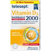 Таблетки витамина D3 tetesept 50 штук, 9,1 г (Германия)