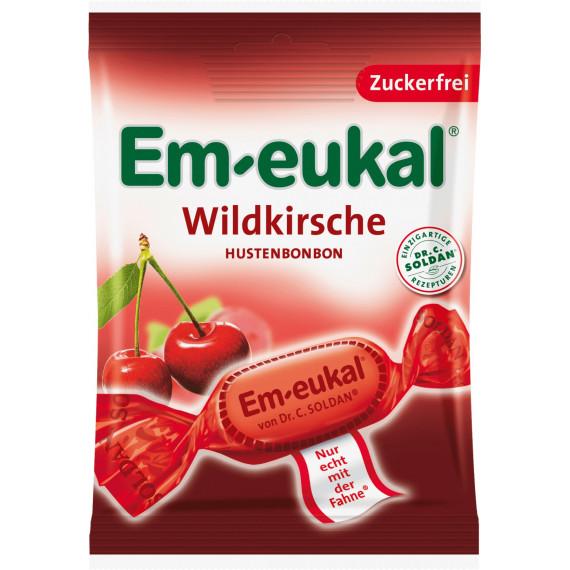 Конфеты Вишня, без сахара Em-eukal, 75 g (Германия) -