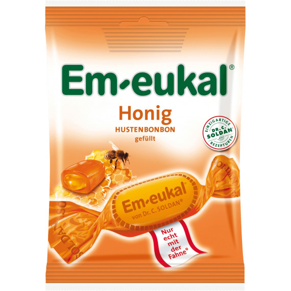 Конфеты, мед Em-eukal, 75 г. (Германия) -