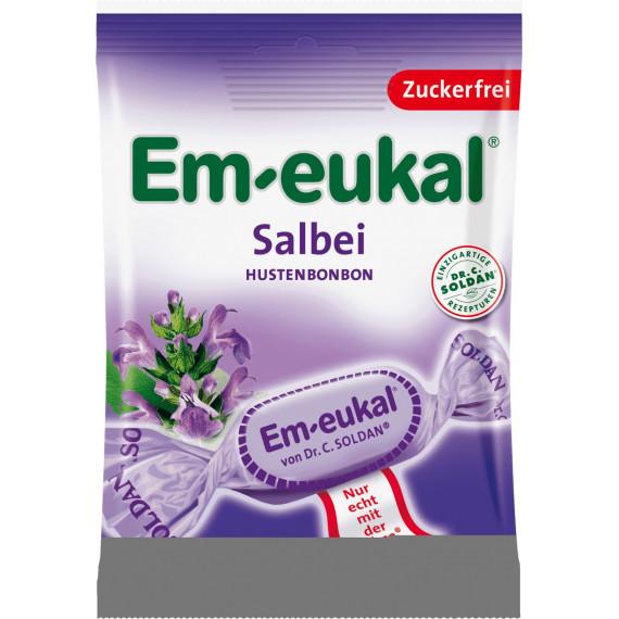 Конфеты, Шалфей, без сахара Em-eukal, 75 g (Германия) -